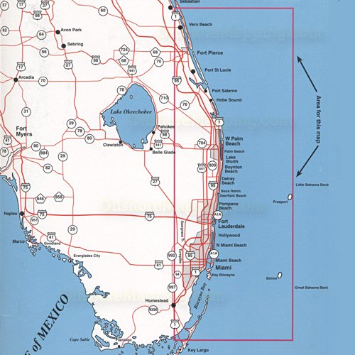Map Of South East Florida.Southeast Florida Offshore Top Spot Charts Miami To Winter Beach