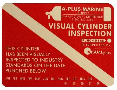 Tank Visual Inspection Sticker