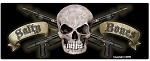 Black with Skull and Crossed Spearguns Sticker -  3