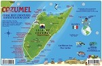 Cozumel Map & Fish ID Card
