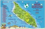 Aruba  Map & Fish ID Card