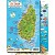 St. Lucia Map & Fish ID Card