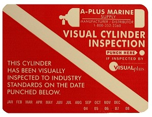 Tank Visual Inspection Sticker