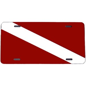 Dive Flag License Plate - Metal
