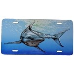 Mako Shark License Plate - Metal