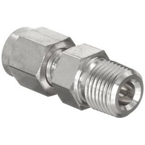 "Union Adapter - 1/4"" MNPT to 1/4"" Tube, Stainless Steel"