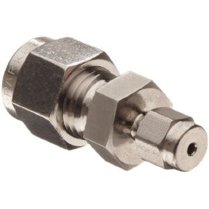 "Adapter - 1/4"" Tube to 1/8"" Tube, Stainless Steel"