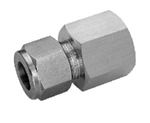 "Adapter - 1/4"" FNPT to 3/8"" Tube, Carbon Steel"