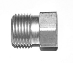 "Air Adapter - CGA 347 to 1/4"" MNPT, Stainless Steel"