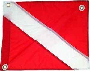 "30"" X 36"" Nylon Dive Flag with Stringer"