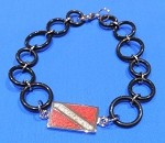 Dive Flag In-Line Pendant with Oring Bracelet/Anklet