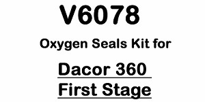 Dacor 360 First Stage Oxygen Compatible Regulator Kit