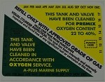 Nitrox & 02 Tank Inspection Sticker