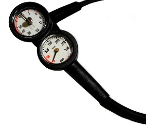 Mini Pressure with Depth Gauge Console - Reads BAR/Meter