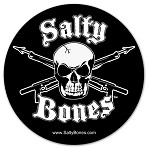 Skull with Crossed Spearguns Sticker - 5.5