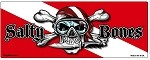 Dive Flag with Skull, Knife, & Dive Flag Sticker - 3