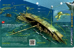 RMS Rhone Bow, Salt Island - 3D Dive Site Card