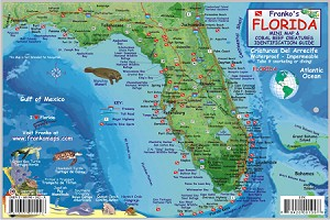 Florida State Map & Fish ID Card