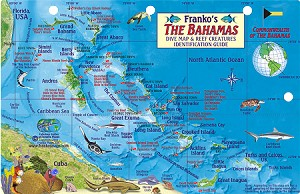 Bahamas  Map & Fish ID Card