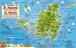 St. Maarten Map & Fish ID Card