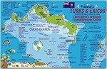 Turks and Caicos Map & Fish ID Card
