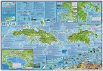 US Virgin Island  Folding Guide & Dive Map