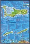 Cayman Island Folding Guide & Dive Map