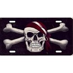 Jolly Rogers Pirate License Plate - Metal