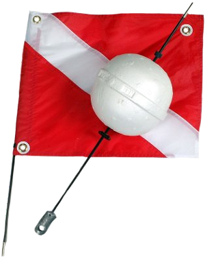 2 Piece Ball Float with Dive Flag