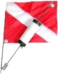 2 Piece Pro Float with Dive Flag