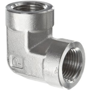 "Elbow Adapter - 1/4"" FNPT to 1/4"" FNPT, Stainless Steel"