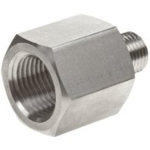 "Adapter - 1/4"" FNPT to 1/8"" MNPT, Stainless Steel"