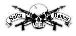 White with Skull & Crossed Spearguns Sticker - 3