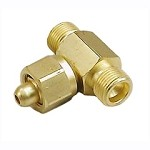 Oxygen Tee Adapter - CGA 540 - Female to Male to Male, Brass