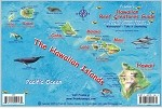 Hawaiian Map & Fish ID Card