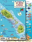 St. Kitts & Nevis Map & Fish ID Card