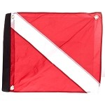 Nylon Dive Flag with Stiffener with Velcro Attachment