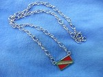 Dive Flag In-Line Pendant Necklace