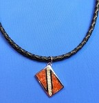 Dive Flag Pendant Necklace with Leather Cord