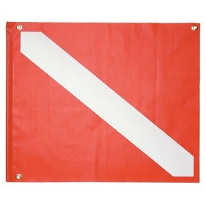 "14"" x 16"" Vinyl Dive Flag with Stringer"